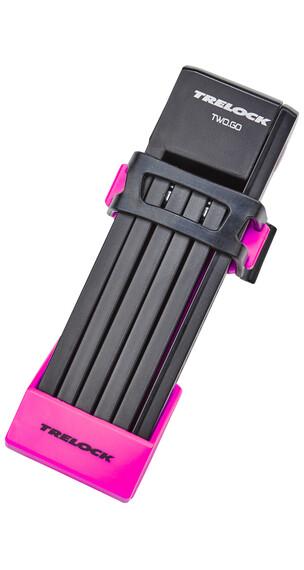 Trelock FS 200/75 TWO.GO Zapięcie kablowe 75 cm różowy